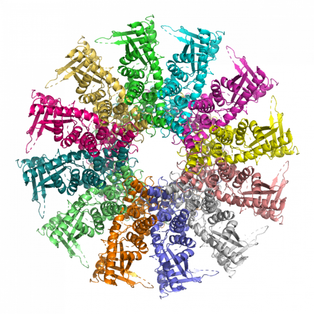 logo theme viral particle assembly